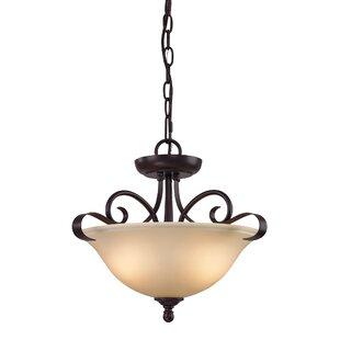 Fleur De Lis Living Malinda 2-Light Bowl Pendant