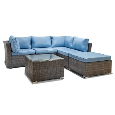 Janine 5 Piece Sectional Set With Cushions Reviews Allmodern