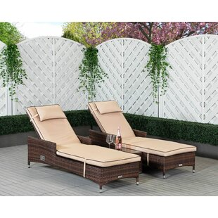 Cambridge Reclining Sun Lounger With Cushions Image