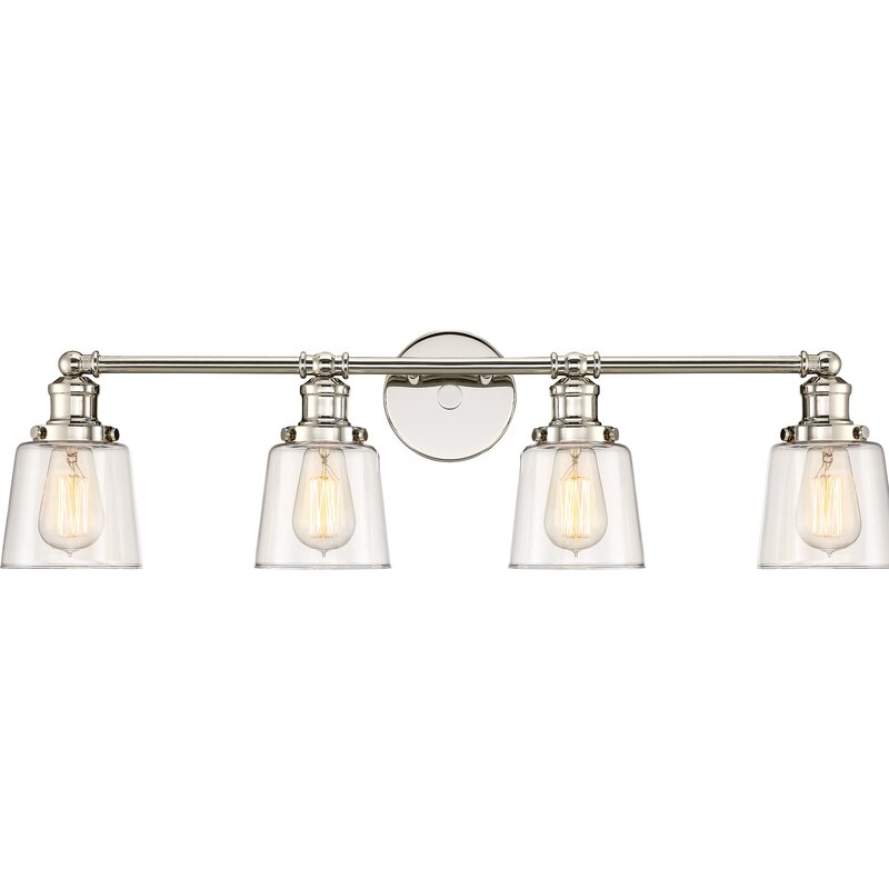 Beachcrest Home Woodburn 4-Light Vanity Light & Reviews | Wayfair