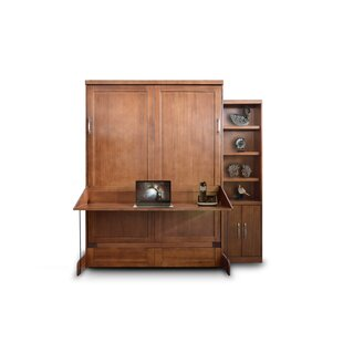 Delapaz Desk/Bookcase Queen Storage Murphy Bed by Brayden Studio