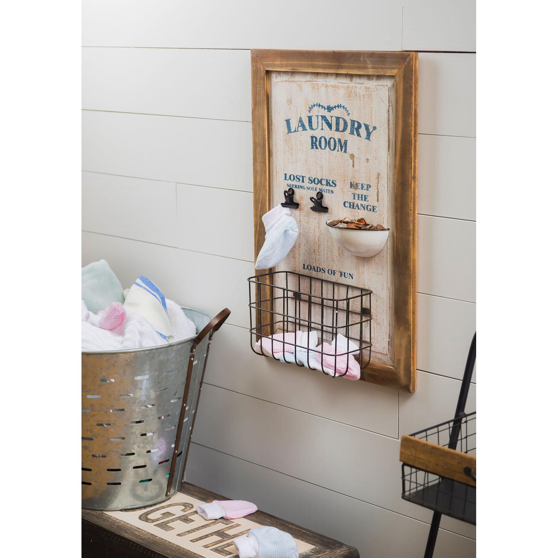 Cape Craftsmen Milly Laundry Wall Organizer Wayfair
