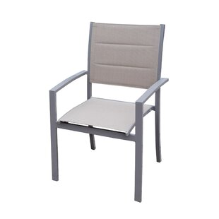 Padded Sling Stacking Patio Dining Chair (Set of 4)