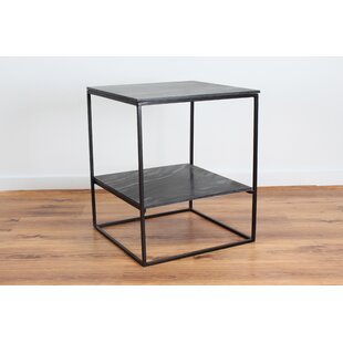 Inexpensive Sharen Slate Side End Table by 17 Stories
