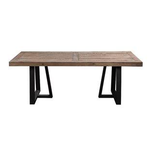Gracie Oaks Anastagio Wood and Metal Dining Table
