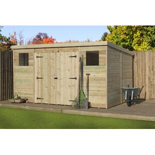 Kellner 14 Ft. W X 8 Ft. D Shiplap Pent Wooden Shed By Sol 72 Outdoor
