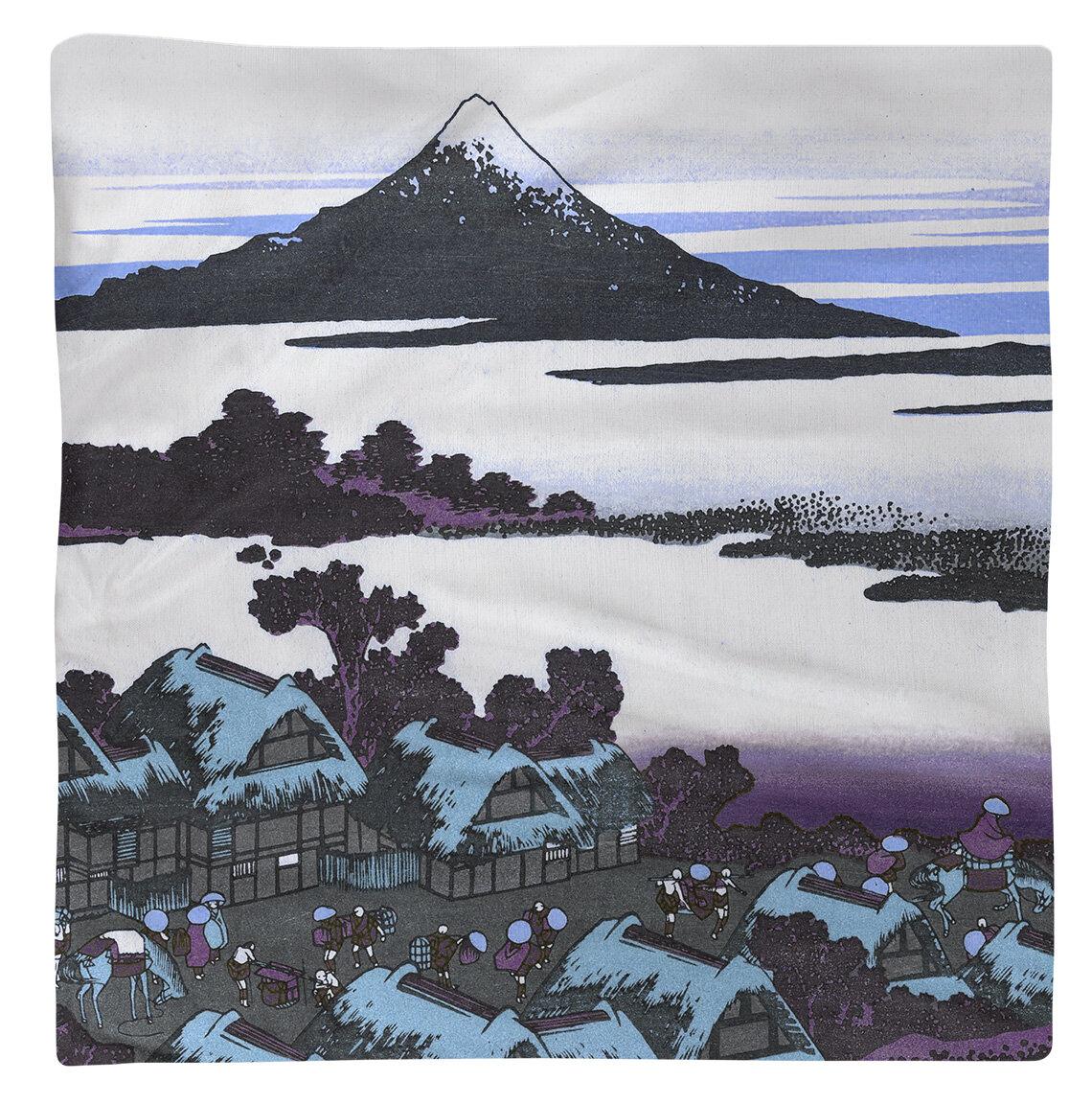 East Urban Home Katsushika Hokusai Dawn At Isawa In Kai Province Cotton Napkin Wayfair