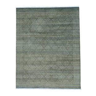 Check Prices One-of-a-Kind Laurier Ersari Hand-Knotted Charcoal Black/Beige Area Rug By Canora Grey