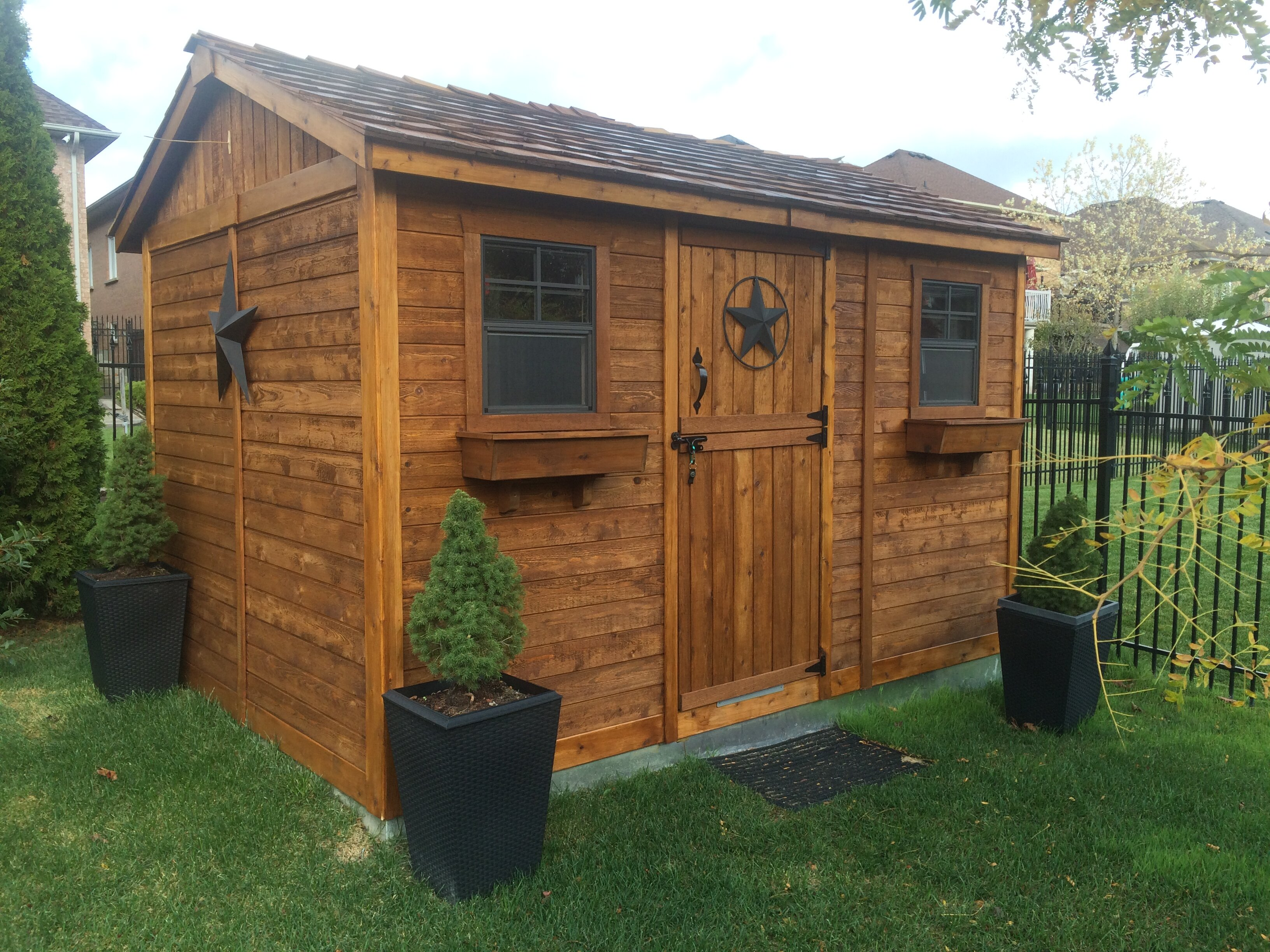 Cabana 9 ft. W x 9 ft. D Wood Storage Shed