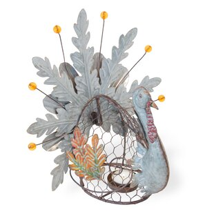 Leaf Turkey Metal Lantern by The Holiday Aisle