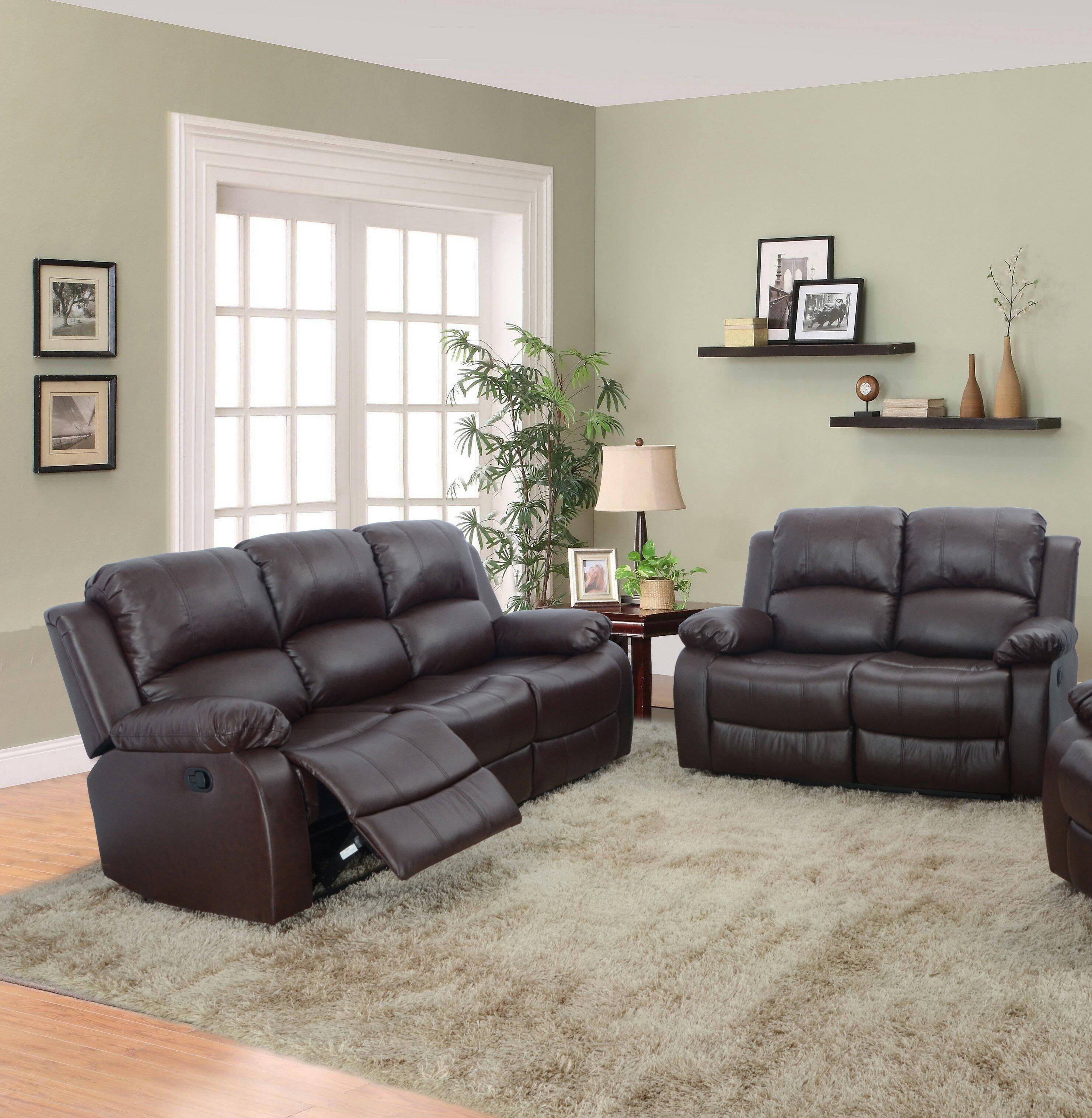 Red Barrel Studio Hartranft 2 Piece Faux Leather Reclining Living Room Set Reviews Wayfair