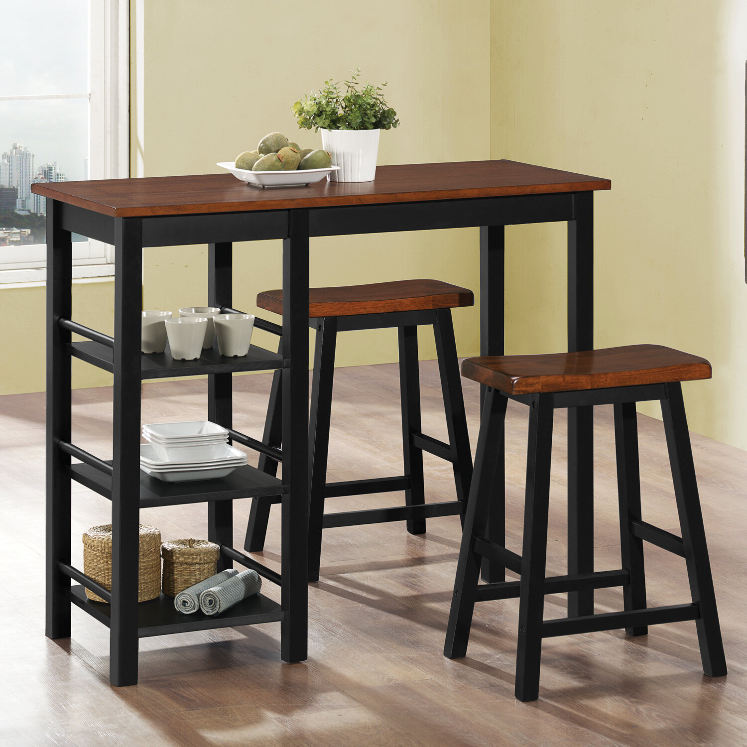 Outstanding Berrios 3 Piece Counter Height Dining Set Ibusinesslaw Wood Chair Design Ideas Ibusinesslaworg