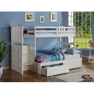 Check Prices Whitewall Twin over Full Bunk Bed by Harriet Bee Reviews (2019) & Buyer's Guide