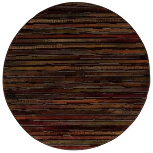 Caban Brown/Red Area Rug by Winston Porter