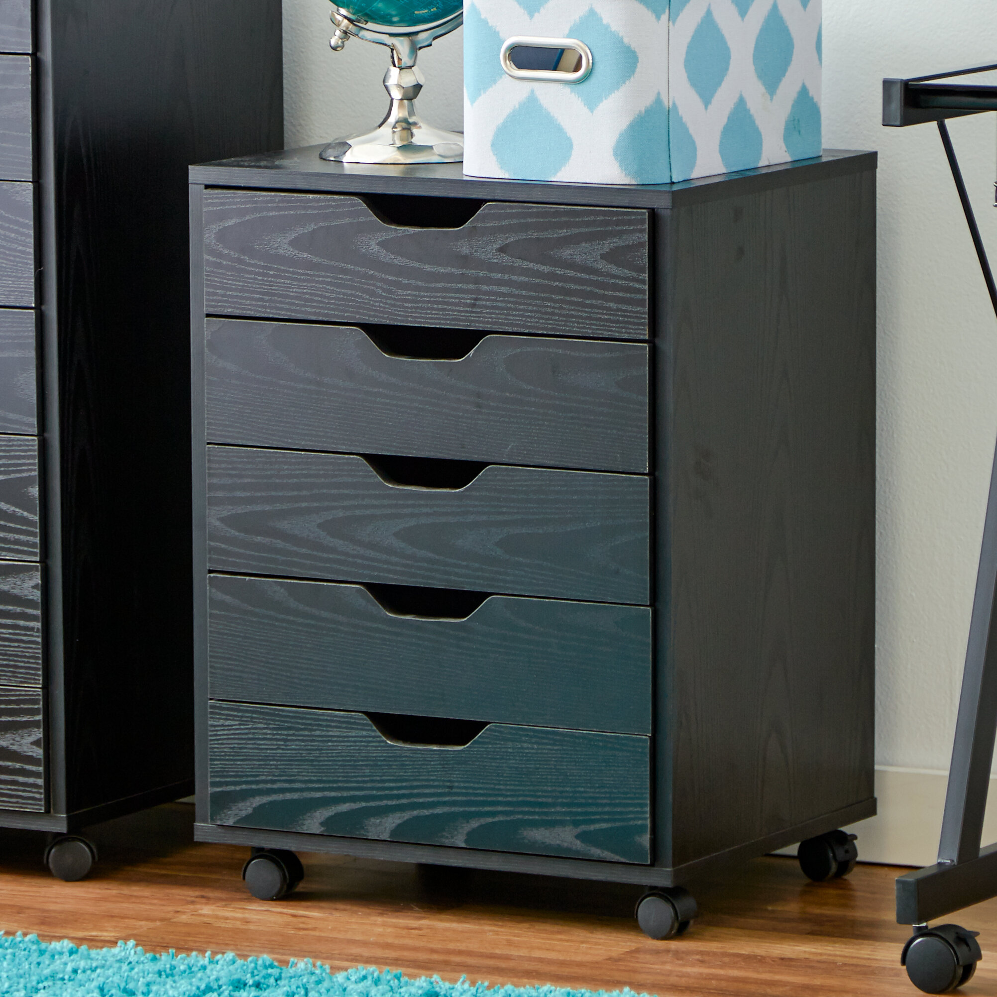 Zipcode Design Riley 5 Drawer Halifax Mobile Cabinet U0026 Reviews | Wayfair