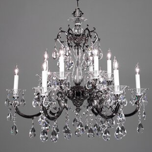 Classic Lighting Via Lombardi 12-Light Candle Style Chandelier