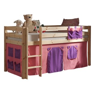 Ethridge European Single Mid Sleeper Bed With Curtain By Zoomie Kids