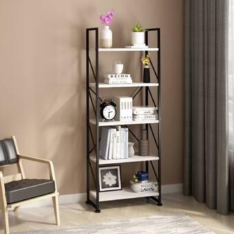 17 Stories Moores 59 8 H X 23 6 W Metal Standard Bookcase Wayfair