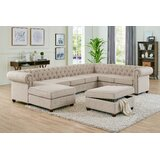 Mentone 132 Left Hand Facing Sectional with Ottoman by Canora Grey