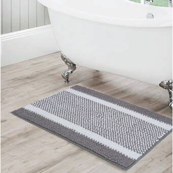 Everly Quinn Oriana Art Deco Designer Rectangle Non Slip Bath Rug Wayfair