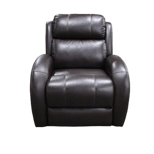 Kristina Curve Wall Hugger Power Recliner Red Barrel Studio