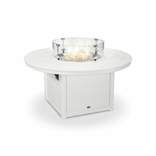POLYWOOD® Round Natural Gas Tabletop Fireplace