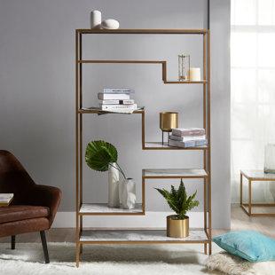 Borst Geometric Bookcase By Mercer41