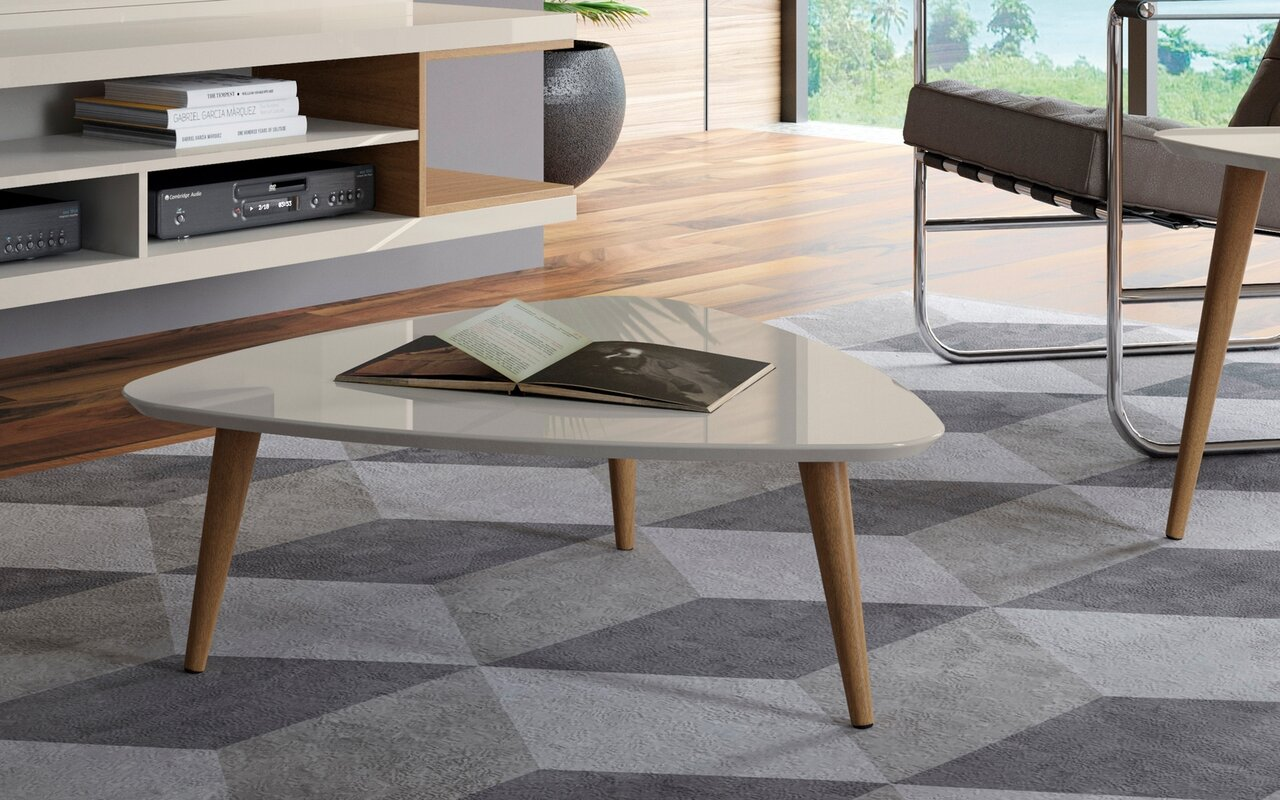 George oliver lemington triangle coffee table with splayed legs lemington triangle coffee table with splayed legs geotapseo Choice Image