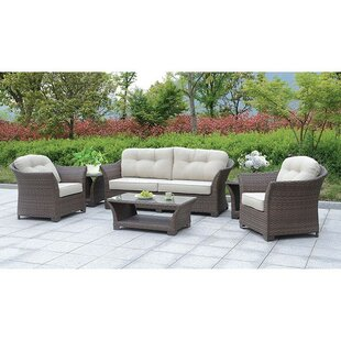 August Grove Isabeau 6 Piece Sofa Seating Group with Cushions