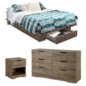 holland fullqueen storage platform bedroom set