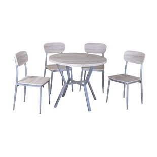 Volans Dining Set With 4 Chairs By 17 Stories