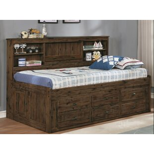 Basso Bookcase Twin Mate's and Captains's Bed with 6 Drawers By Harriet Bee