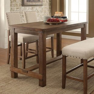 Leahy Transitional Counter Height Solid Wood Dining Table