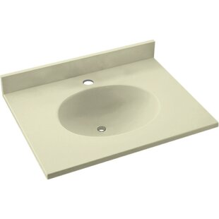 Find the perfect Ellipse Solid Surface 19 Single Bathroom Vanity Top BySwan