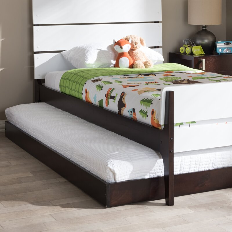 . Pougkeepsie Modern and Contemporary Twin Platform Bed Trundle