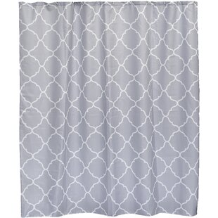 Carthage Printed Fabric Single Shower Curtain