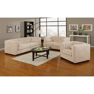 House of Hampton Kulick 3 Piece Living Room Set