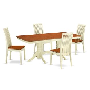 Pillsbury 5 Piece Solid Wood Dining Set August Grove