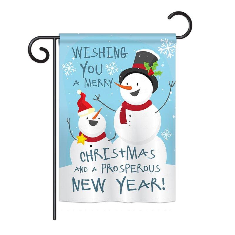 Breeze Decor Snowman Wishing You Winter Seasonal Christmas Impressions 2 Sided 19 X 13 In Garden Flag Wayfair