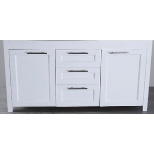 60 Double Bathroom Vanity Base Only By Bosconi