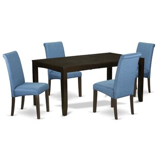 Bofort 5 Piece Extendable Solid Wood Dining Set