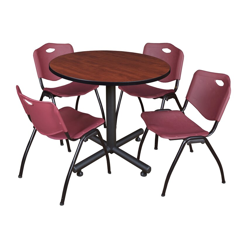 Symple Stuff Marin 36 Round 5 Piece Breakroom Table And Chair Set