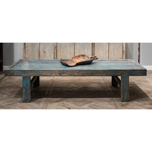 Wood Panel Coffee Table by Sarreid Ltd
