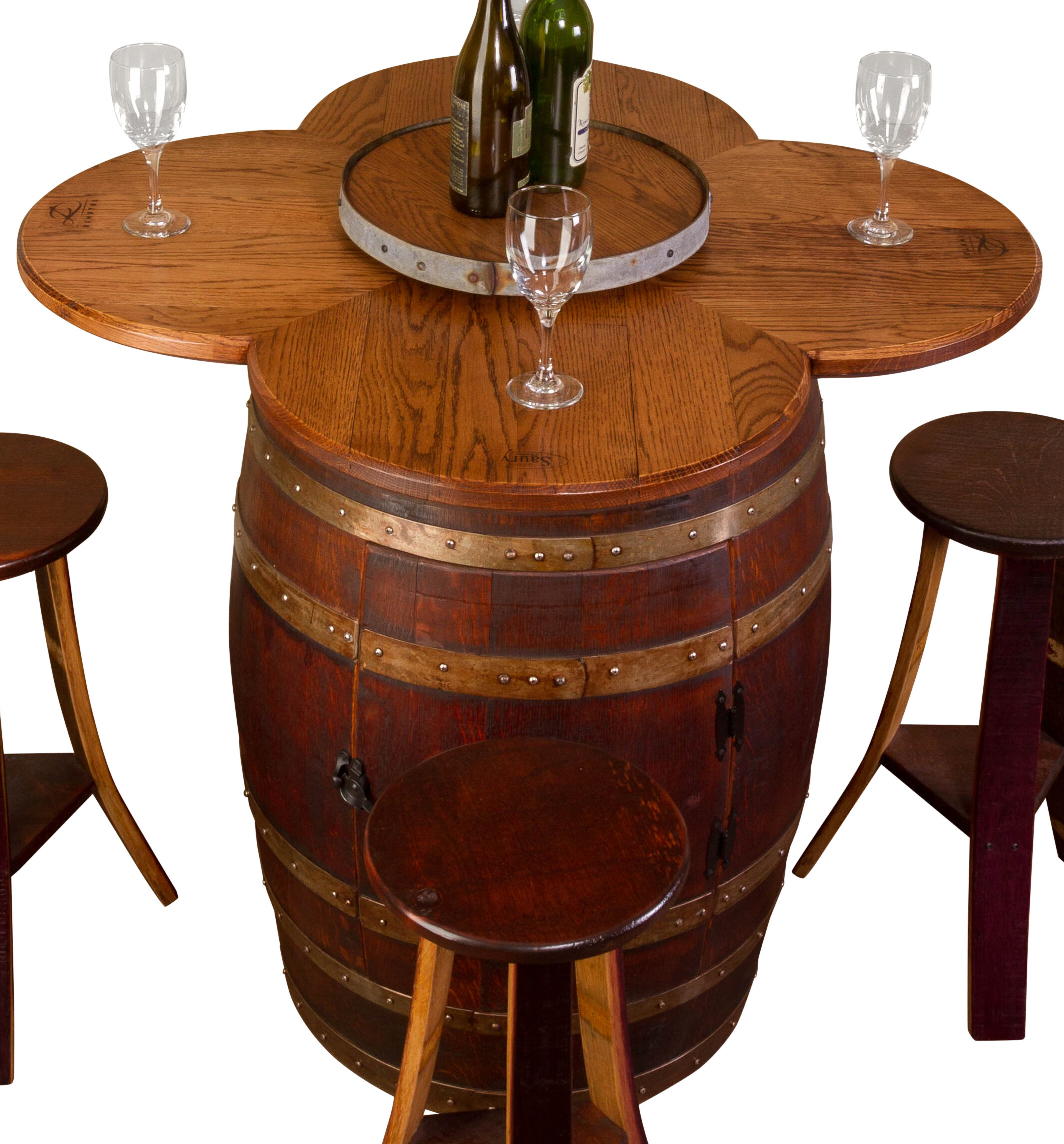 Wondrous Reclaimed Wine Barrel Tables Wayfair Download Free Architecture Designs Scobabritishbridgeorg