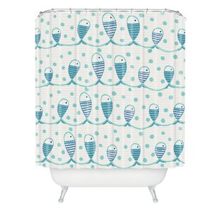 Gabriela Larios Mare Peces Single Shower Curtain