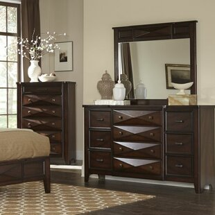 Fentress 10 Drawer Dresser with Mirror