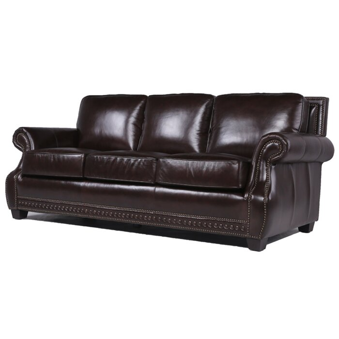 Trent Austin Design Diana Leather Sofa | Wayfair