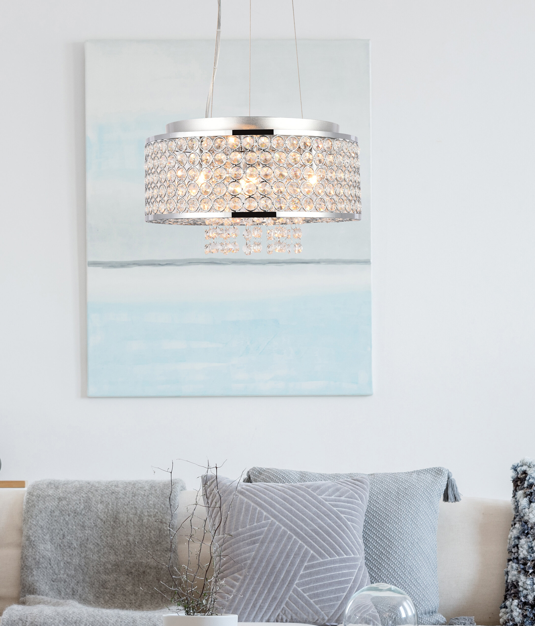 House Of Hampton Anglesey 4 Light Unique Statement Drum Pendant Wayfair