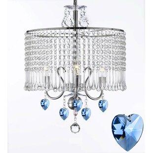 Rosdorf Park Braseby 3-Light Crystal Chandelier