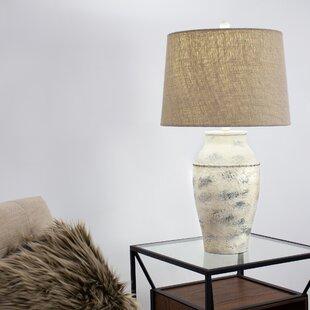 Pepe Concrete Drum Shade 28 Table Lamp